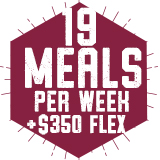 19 Meals per week with $350 Flex